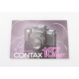 Contax Bedienungsanleitung 167MT (224118)