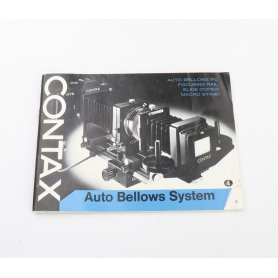 Contax Bedienungsanleitung Auto Bellows System (224121)