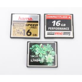 SanDisk 3x CF Karten a 16GB Compact Flash (225017)