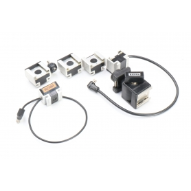 Rowi 5 Stück Blitzadapter Blitzschuh mit Synchronkabel (224840)