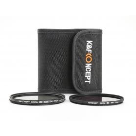 K&F Concept Filter Set 77 mm E-77: Polfilter CPL Digital HD Slim, Graufilter ND4 (226356)