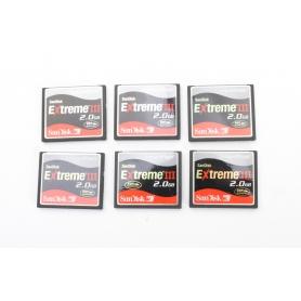 SanDisk 6x CF Karten a 2GB Extreme III Compact Flash (226380)