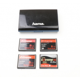 SanDisk 4x CF Karten a 8GB Compact Flash Extreme (3x 60 MB/s + 1x Extreme III) (226448)