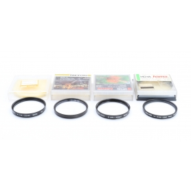 Hama 4x Set von Close-Up 55 mm Nahlinsen +4 / +3 / +2 E-55 Makro (223192)