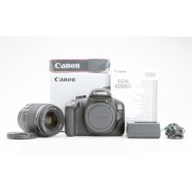 Canon EOS 4000D mit Canon EF-S 18-55 III Objektiv (Neuware) (228959)