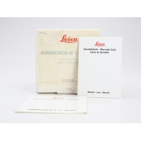 Leica Summicron-M 50 mm 1:2 NUR VERPACKUNG (228455)