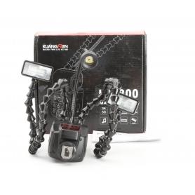 KuangRen Laowa Twin KX-800 Kamera-Blitz Blitzgerät Makroblitz AF Hilfslicht schwarz (229612)