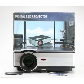 EUG X89+ A Beamer Projektor LCD LED 3000 Lumen 4.000:1 HDMI VGA WiFi silber schwarz (229642)