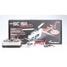 Amewi SC150 3D RC Singlerotor Hubschrauber RtF 150er Brushless Flybarless weiß rot (229773)
