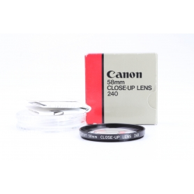 Canon 58 mm Close-Up Lens 240 Nahlinse A-1346 (229870)