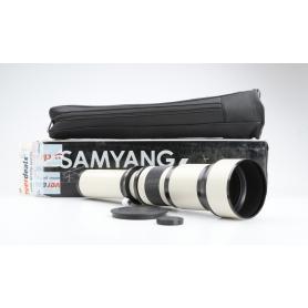 Samyang 650-1300mm f8-16 MC IF T2 Supertelezoom-Objektiv für Vollformat Objektivbajonett Drehzoom manueller Fokus weiß (229911)
