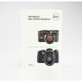 Leitz Handbuch des LEICA-Systems Ausgabe 1. August 1983 (229976)