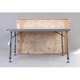 Crespo Sevilla AP/272-80 Campingtisch Gartentisch 120x80cm höhenverstellbar Aluminium grau schwarz (230016)