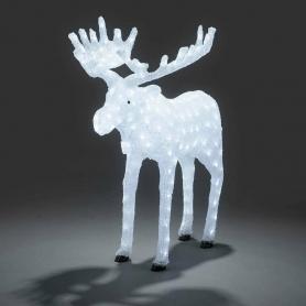 Konstsmide LED Acryl Elch 200 weisse Dioden 24V Außentrafo 6261-203 (230029)