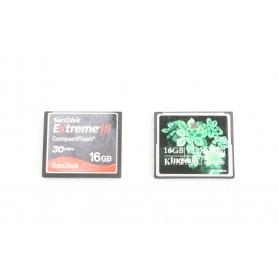 SanDisk 2x CF Karten a 16GB Compact Flash (30 MB/s + 133x) - SanDisk & Kingston (221862)