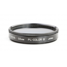 Hoya 55 mm Filter PL-Color B Kontrastfilter E-55 Blau (230208)