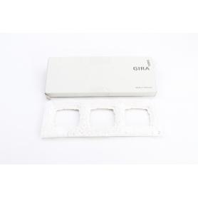 Gira Abdeckrahmen 3fach, Glas Weiß, System 55 Esprit, Gira 021312 (230345)