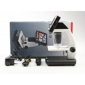 Toolcraft DigiMicro Lab 5.0 USB LCD Mikroskop Monitor max. Vergrößerung 500 Zoom 4fach schwarz weiß (230440)