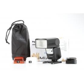 Panasonic DMW-FL580L Kamera-Blitz Aufsteck-Blitzgerät für Olympus Panasonic Zoomreflektor 24-200mm schwarz (230435)