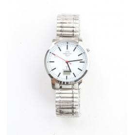 Master Time Funk Quarz Herren Uhr Analog-Digital mit Metall Armband MTGA-10590-10M (230455)