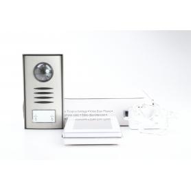 Renkforce 1275881 Video-Türsprechanlage Kabelgebunden Komplett-Set 1 Familienhaus Silber (230414)