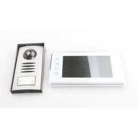 Renkforce 1275881 Video-Türsprechanlage Kabelgebunden Komplett-Set 1 Familienhaus Silber (230436)