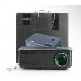 Wimius P18 Beamer Projektor LED 4500 Lumen 4000:1 FHD HDMI VGA AV USB schwarz (230501)