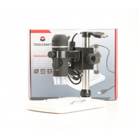 Toolcraft TO-5139594 USB-Mikroskop Digital-Mikroskop 5MP Vergrößerung 150x schwarz (230521)