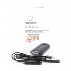 Renkforce renkCast 2 HDMI Streaming Stick Mediaplayer AirPlay Miracast DLNA externe Antenne HDMI WLAN schwarz (230925)