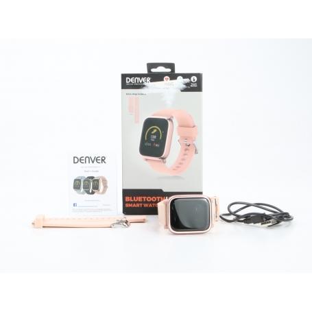 Denver SW-160 Smartwatch Fitness-Uhr Sportuhr Herzfrequenzmesser Smart Wake-Up rosa rosegold (231097)