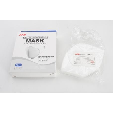 AAB 10 Stück KN95 Mund-Nasen-Schutz Feinstaubmaske Mundschutzmaske GB2626-2006 (231114)