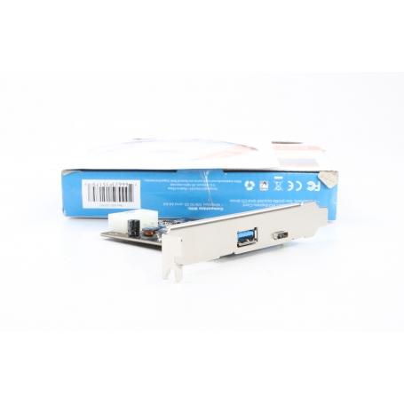 Manhattan 151757 2 Port USB 3.1-Controllerkarte Expresskarte USB-A USB-C PCIe Typ A Typ C (231119)