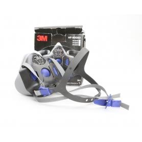 3M HF-801SD Atemschutz Halbmaske Mundbedeckung Maske Mundschutz ohne Filter S schwarz grau (231121)