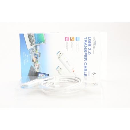 j5create JUC500 USB 3.0 Wormhole Switch/Data-Link-Kabel Datentransfer Mac Windows 150cm weiß (231122)